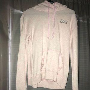 blush pink hollister hoodie